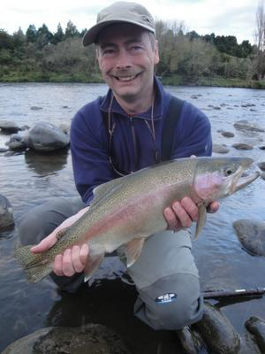 David Kilner, Whanganui Rainbow Trout - New Zealand Fishing Guides NZ